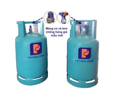 Bình gas Petrolimex chuẩn sẽ được dán tem và màng co chống giả