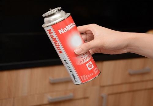 Chỉ sử dụng bình gas mini mới, chưa từng bị sang chiết lại